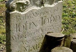 TODD John 1779 and Mary his wife