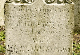 SPICER Robert died 1788 and Elizabeth his wife died 1799