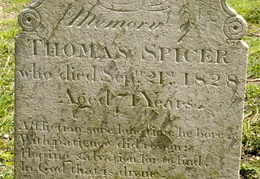 SPICER Thomas died 1828 aged 71 years