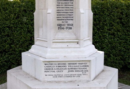 2. War Memorial Forncett St Mary - Inscription
