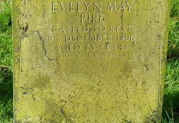 PIPE Evelyn May died 1996