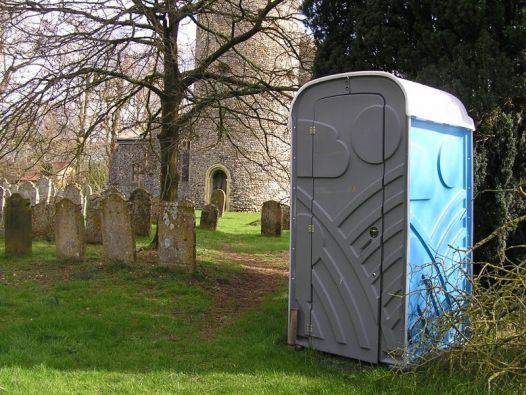 Current toilet facilities at St Peters Photo A Rae