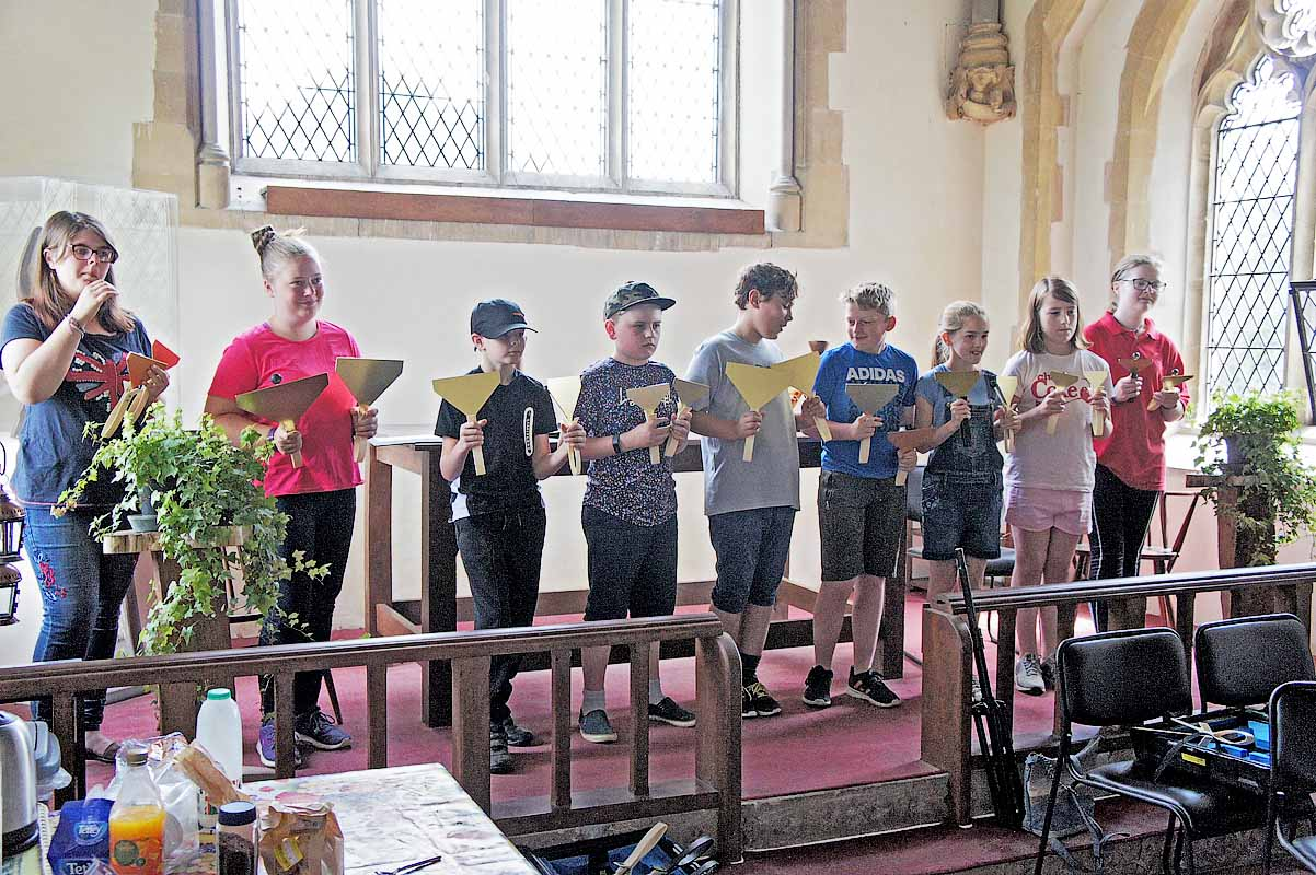 The Forncett Clangers (Hand Bells) perform at the Church