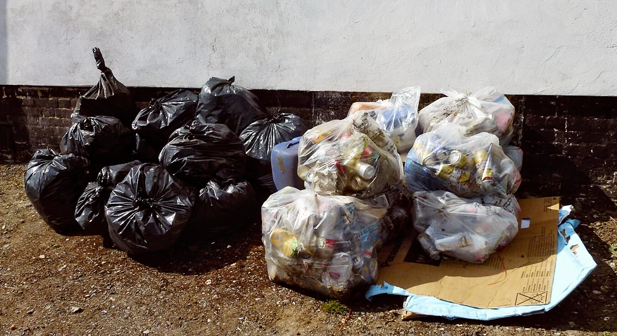 Job Done! 22 bags of rubbish await collection